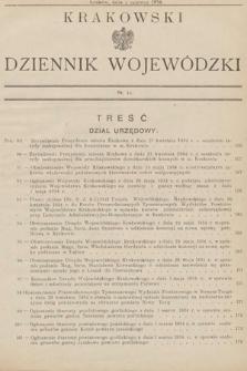 Krakowski Dziennik Wojewódzki. 1934, nr11