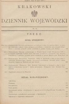 Krakowski Dziennik Wojewódzki. 1934, nr15