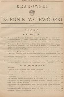Krakowski Dziennik Wojewódzki. 1934, nr17