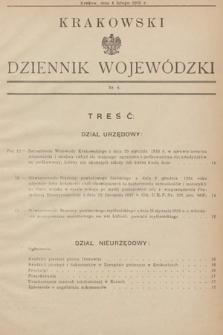 Krakowski Dziennik Wojewódzki. 1935, nr4