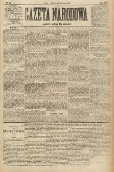 Gazeta Narodowa. 1907, nr47