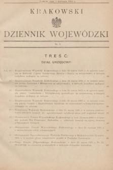 Krakowski Dziennik Wojewódzki. 1935, nr8