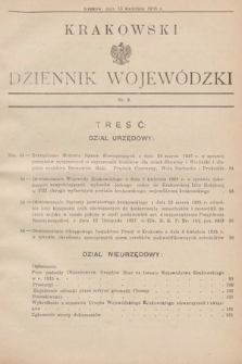 Krakowski Dziennik Wojewódzki. 1935, nr9