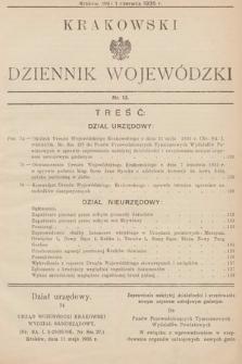 Krakowski Dziennik Wojewódzki. 1935, nr13