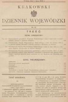 Krakowski Dziennik Wojewódzki. 1935, nr15