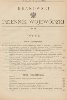 Krakowski Dziennik Wojewódzki. 1935, nr20