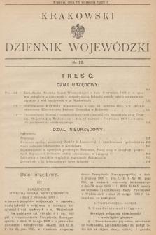 Krakowski Dziennik Wojewódzki. 1935, nr22