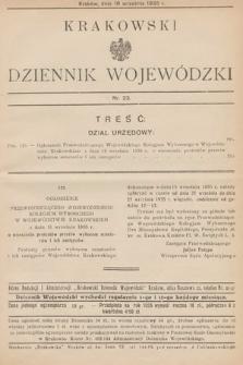 Krakowski Dziennik Wojewódzki. 1935, nr23
