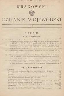 Krakowski Dziennik Wojewódzki. 1935, nr24