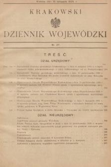Krakowski Dziennik Wojewódzki. 1935, nr27