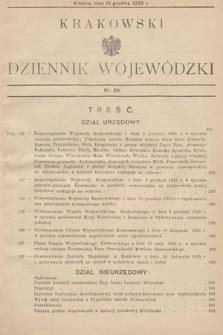 Krakowski Dziennik Wojewódzki. 1935, nr29