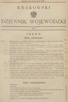 Krakowski Dziennik Wojewódzki. 1936, nr2
