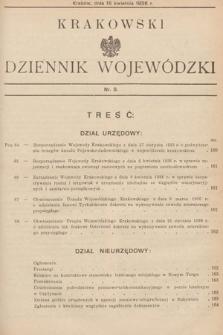 Krakowski Dziennik Wojewódzki. 1936, nr8