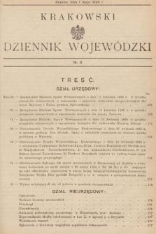 Krakowski Dziennik Wojewódzki. 1936, nr9
