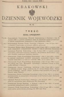 Krakowski Dziennik Wojewódzki. 1936, nr15