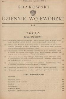 Krakowski Dziennik Wojewódzki. 1936, nr17