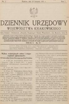 Dziennik Urzędowy Województwa Krakowskiego. 1921, nr2