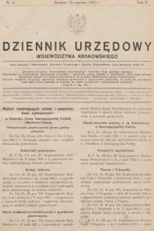Dziennik Urzędowy Województwa Krakowskiego. 1922, nr6