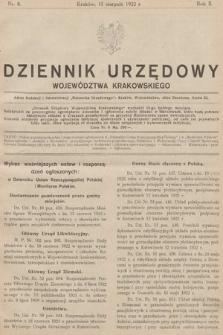 Dziennik Urzędowy Województwa Krakowskiego. 1922, nr8