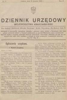 Dziennik Urzędowy Województwa Krakowskiego. 1922, nr9