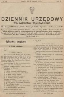Dziennik Urzędowy Województwa Krakowskiego. 1922, nr10