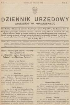 Dziennik Urzędowy Województwa Krakowskiego. 1922, nr14