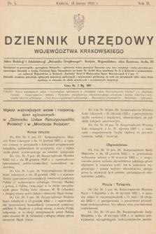 Dziennik Urzędowy Województwa Krakowskiego. 1923, nr2