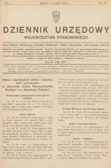 Dziennik Urzędowy Województwa Krakowskiego. 1923, nr3