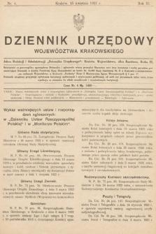 Dziennik Urzędowy Województwa Krakowskiego. 1923, nr4