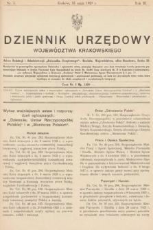 Dziennik Urzędowy Województwa Krakowskiego. 1923, nr5