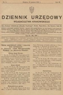 Dziennik Urzędowy Województwa Krakowskiego. 1923, nr6