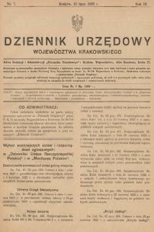 Dziennik Urzędowy Województwa Krakowskiego. 1923, nr7