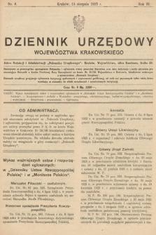 Dziennik Urzędowy Województwa Krakowskiego. 1923, nr8
