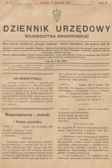 Dziennik Urzędowy Województwa Krakowskiego. 1923, nr9