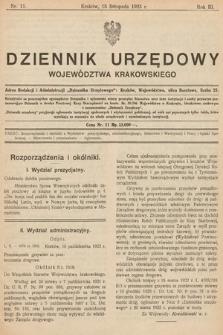 Dziennik Urzędowy Województwa Krakowskiego. 1923, nr11