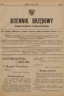 Dziennik Urzędowy Województwa Krakowskiego. 1924, nr5