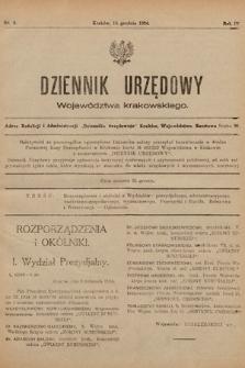 Dziennik Urzędowy Województwa Krakowskiego. 1924, nr9