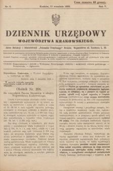 Dziennik Urzędowy Województwa Krakowskiego. 1925, nr6