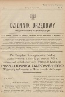 Dziennik Urzędowy Województwa Krakowskiego. 1926, nr4
