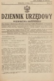 Dziennik Urzędowy Województwa Krakowskiego. 1927, nr3