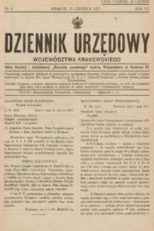 Dziennik Urzędowy Województwa Krakowskiego. 1927, nr4