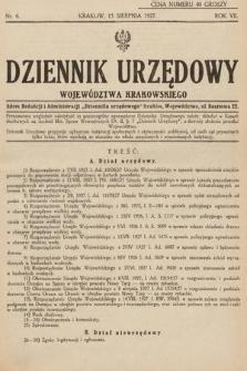 Dziennik Urzędowy Województwa Krakowskiego. 1927, nr6