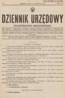 Dziennik Urzędowy Województwa Krakowskiego. 1927, nr7