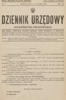 Dziennik Urzędowy Województwa Krakowskiego. 1927, nr9
