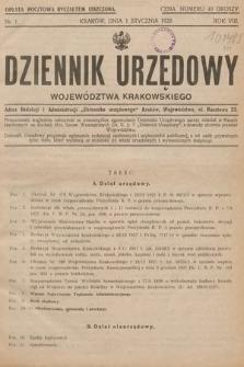 Dziennik Urzędowy Województwa Krakowskiego. 1928, nr1