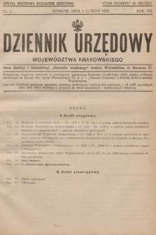 Dziennik Urzędowy Województwa Krakowskiego. 1928, nr2