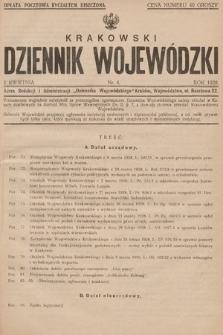 Krakowski Dziennik Wojewódzki. 1928, nr4