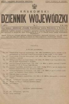 Krakowski Dziennik Wojewódzki. 1928, nr7