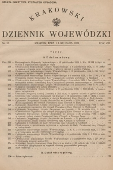 Krakowski Dziennik Wojewódzki. 1928, nr11