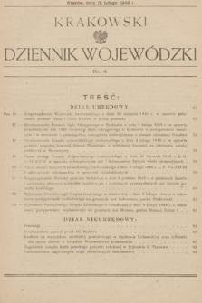 Krakowski Dziennik Wojewódzki. 1946, nr4